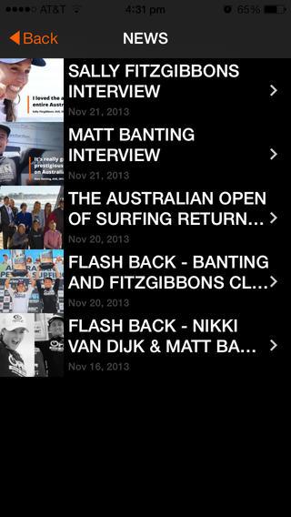 Australian Open of Surfing软件截图1