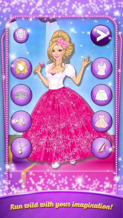 卡拉 Ok 晚会: 女孩打扮。打扮时尚服装的歌星。软件截图2