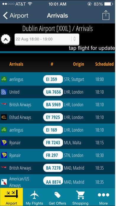 Dublin Flight Information软件截图2
