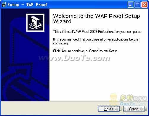 WAP Proof 2008 Professional下载