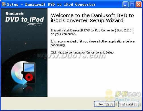 Daniusoft DVD to iPod Converter下载