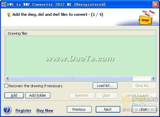 DWG to WMF Converter MX下载