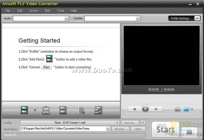 AinSoft FLV Video Converter下载