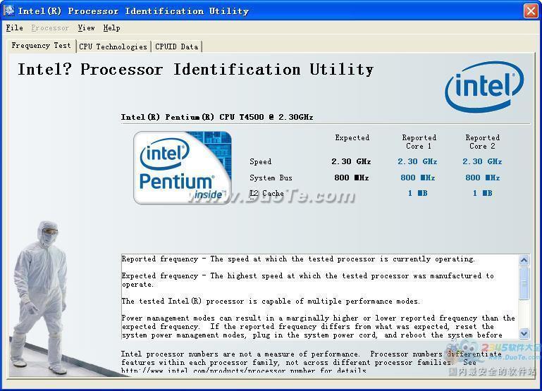 Intel Processor Identification下载