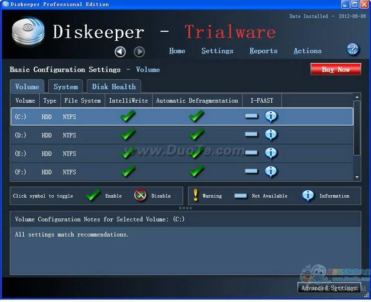 Diskeeper Professional Edition 2012下载