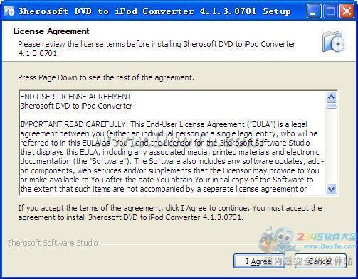 3herosoft DVD to iPod Converter下载