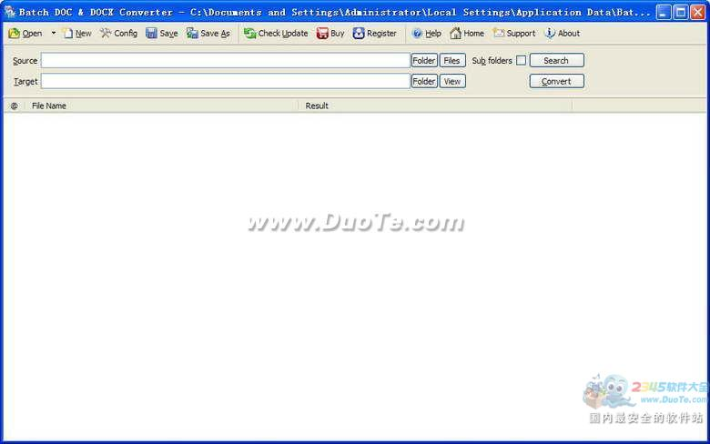 Batch DOCX to DOC Converter下载