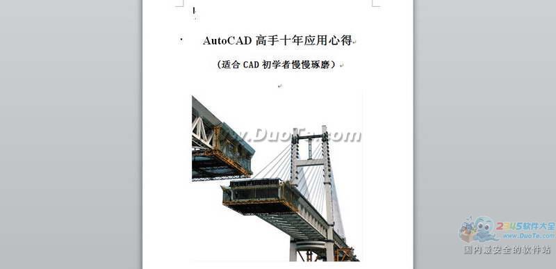 AutoCAD王牌设计师10年应用心得下载
