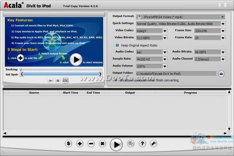 Acala DivX to iPod下载
