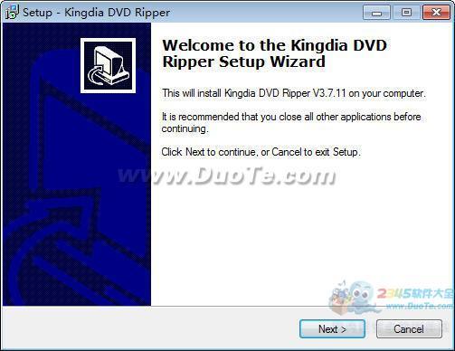 Kingdia DVD Ripper(视频文件转换工具)下载