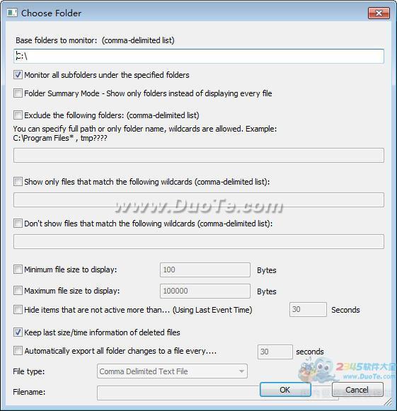 监控文件夹变化(FolderChangesView)下载
