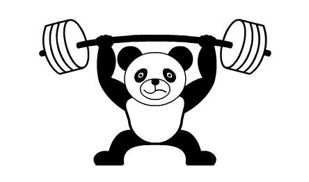 Flash教你如何制作熊猫举重