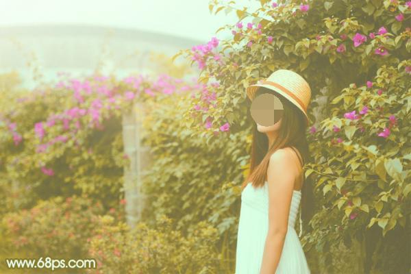 ps调色-柔和的韩系黄褐色美女