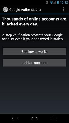 Google身份验证器 Google Authenticator软件截图1