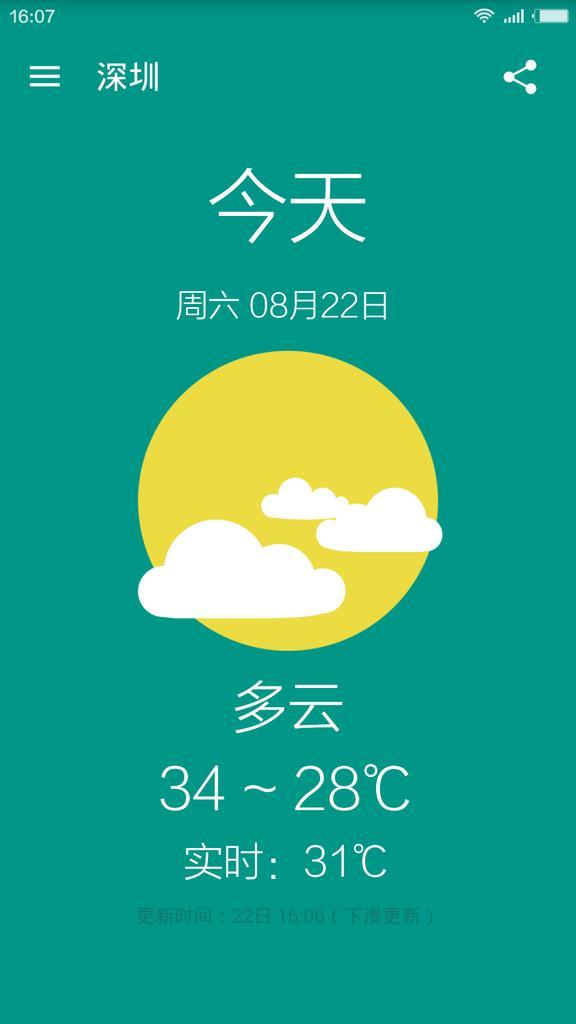 芋头天气软件截图0