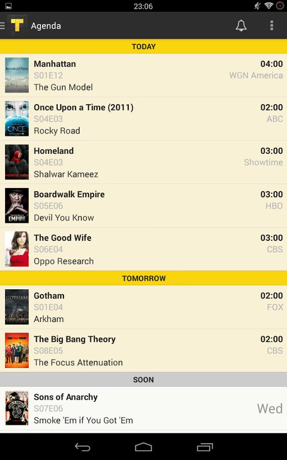 TVShow Time,追剧向导软件截图0
