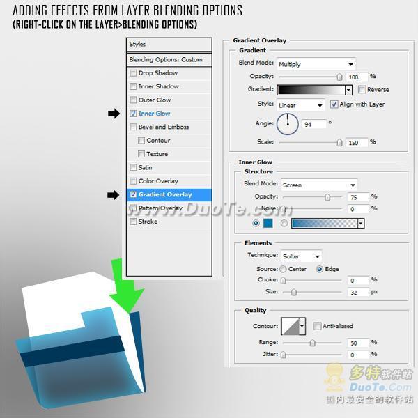 ps设计实例-制作一个下载文件夹图标