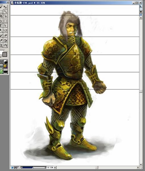 Painter数字笔刷绘制欧洲骑士铠甲