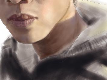 Painter鼠绘人像全过程