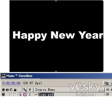 After Effects 实例教程之新年欢庆字幕