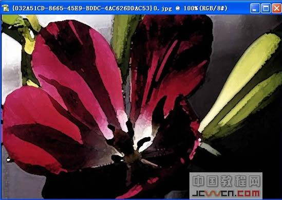 PS滤镜高级教程之模拟水粉花卉效果