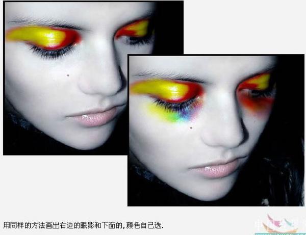PS人物美容基础教程之给美女脸加彩妆