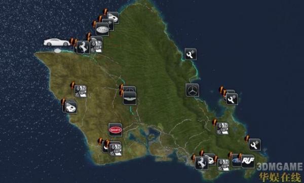《无限试驾2》各车4S店地图介绍
