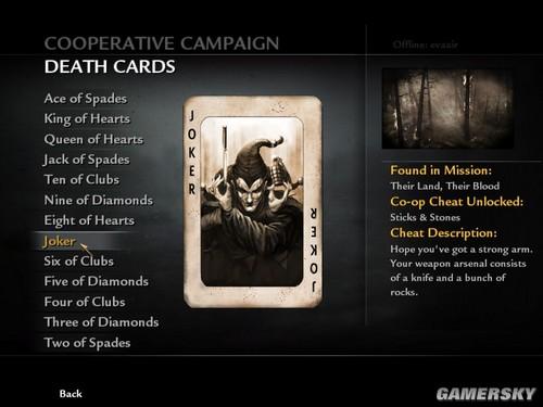 《使命召唤5》Death Cards效果介绍