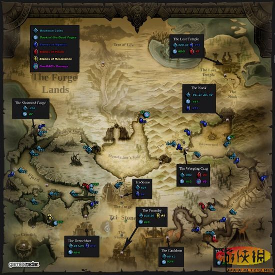 《暗黑血统2》全收集地图攻略