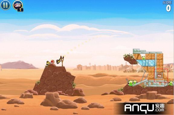 《愤怒的小鸟:星球大战》第一大关21-25三星攻略