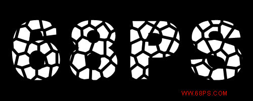 ps文字特效-打造石头文字