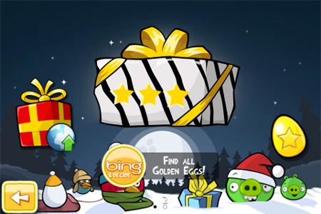 《愤怒的小鸟》圣诞节版之金蛋攻略