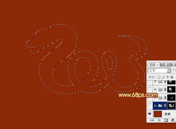 ps设计实例-制作华丽2013金色蛇形字