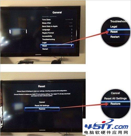 如何恢复Apple TV出厂设置