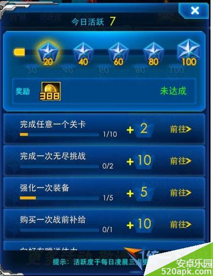 雷霆战机活跃度有什么用