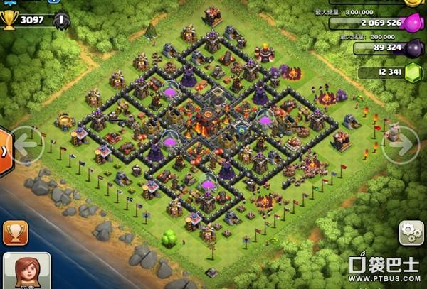 部落战争(Clash of Clans)COC玩家分享各款十本防守阵