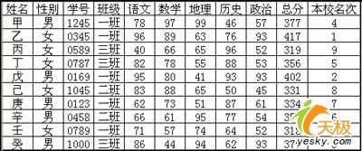 WPS表格教程 打造简单清晰成绩分析表
