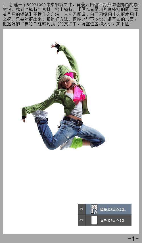 用PS设计出时尚绚丽的舞者海报效果