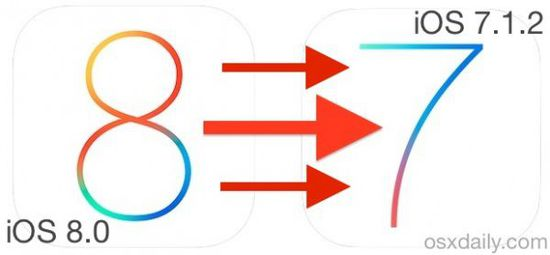 苹果官方允许iOS 8用户降级至iOS 7.1.2
