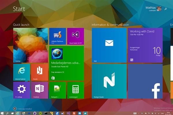 看看别人的Windows 10桌面