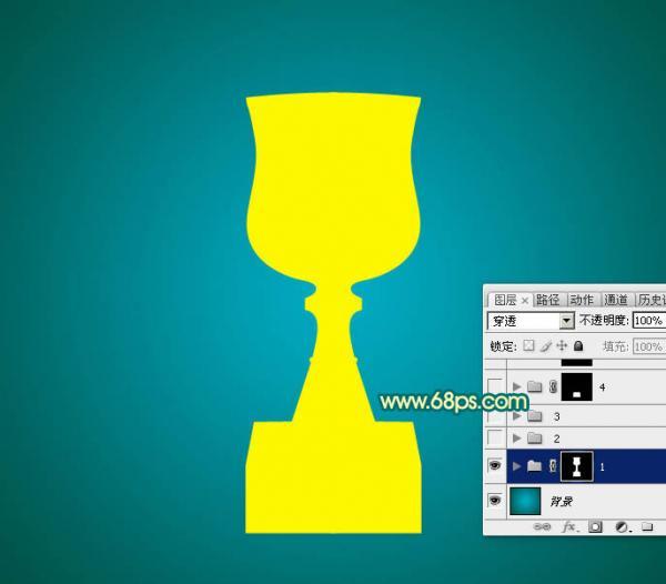 制作漂亮金色奖杯实例图片的PS教程