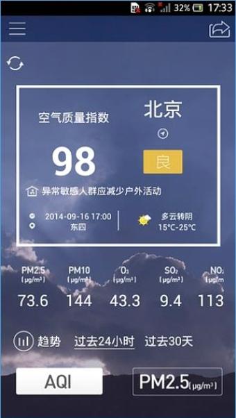 污染地图检测空气质量方法