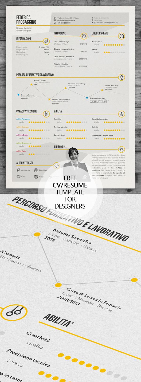 创意设计优质简历模版免费下载