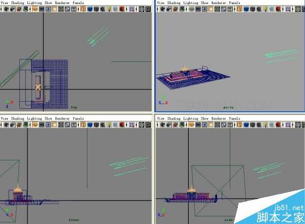maya场景多层重叠用贴图怎么做?