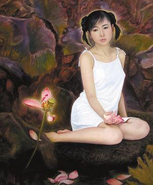 最大胆的中国人体艺木 女儿给画家父亲当裸模三点全露引争议图片