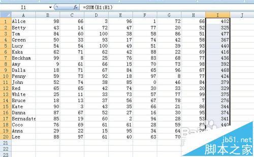 Excel怎么计算学生的总分/平均分/及格率呢?